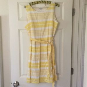Yellow & white Garnet Hill summer dress